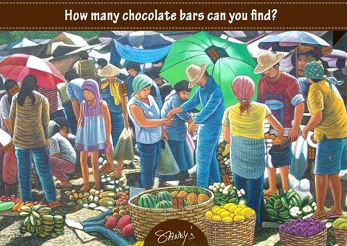 nhung thanh chocolate dang an o buc tranh nay, nhanh mat tim ra nao... - 1