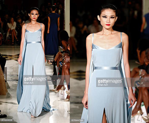 hoang thuy, kha my van trinh dien tai london va new york fashion week - 2