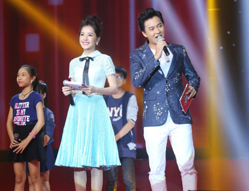 chi pu bi che la mc tham hoa tai the voice kids - 1