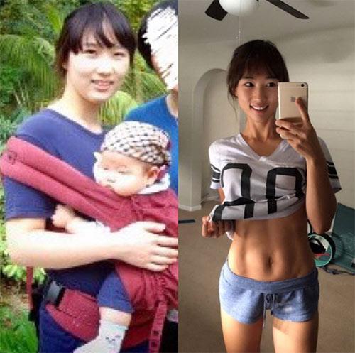 """me se"" 2 con lot xac thanh hotgirl chi voi chieu uong nuoc nong - 1"