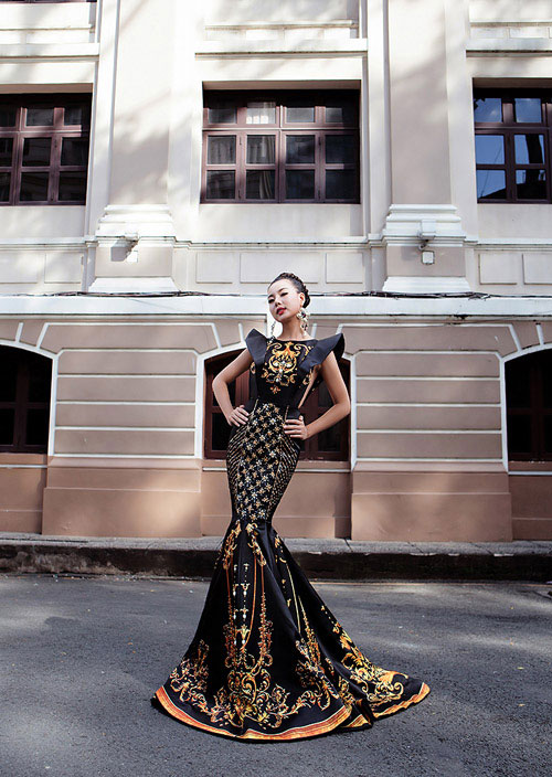 lai thanh huong thang the, lot top 12 nguoi dep moi tai miss all nations - 2