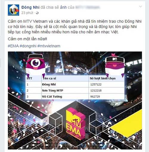 "dong nhi ""vuot mat"" son tung, dai dien viet nam tranh tai tai mtv ema 2016 - 1"