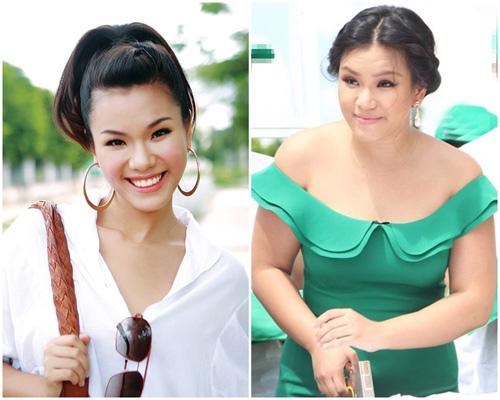 nhan sac 'xuong doc khong phanh' vi tang 20-30kg khi bau bi cua sao viet - 10