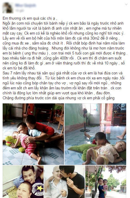 "nguoi vo ung thu va cau chuyen roi nuoc mat: ""em thuong chong em qua"" - 1"