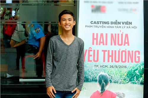 """truong thi may bat ngo xuat hien tai buoi casting phim """"hai nua yeu thuong"""" - 4"""