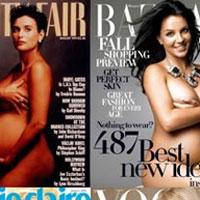 """Tại sao những sao bầu """"thích"""" khoả thân trên bìa tạp chí?"""