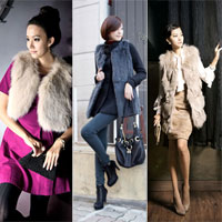 Áo khoác lông cho ngày đông thêm sành điệu