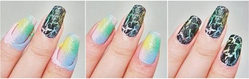 Vẽ nail từ miếng xốp - 6