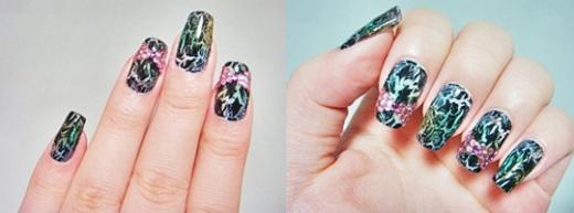Vẽ nail từ miếng xốp - 12