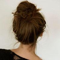 Tóc búi tóc đẹp tự nhiên