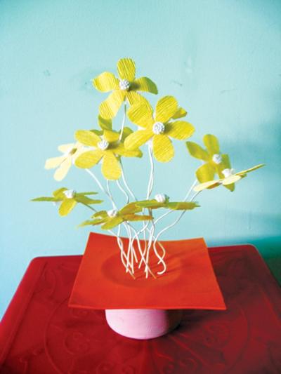 Cách làm bình hoa giấy nhỏ xinh - 8
