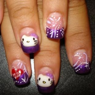 Dễ thương mẫu nail Hello Kitty 2011 - 3