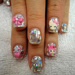 Dễ thương mẫu nail Hello Kitty 2011 - 8