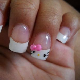Dễ thương mẫu nail Hello Kitty 2011 - 9