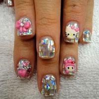 Dễ thương mẫu nail Hello Kitty 2011