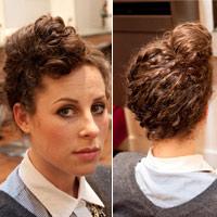3 mẫu búi cao cho tóc xoăn tít