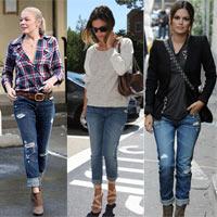 Mặc quần boyfriend jeans thật nữ tính
