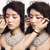 Chiêu trang điểm mắt mèo của sao Hàn
