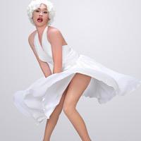 """Hoài Linh """"giả gái"""" thành... Marilyn Monroe túm váy"""