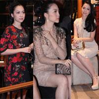 Linh Nga diện  3 váy trong một tối