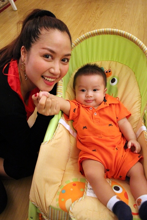 Con trai Ốc Thanh Vân sành điệu từ bé - 3