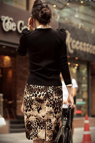 Phối đồ sành điệu với chân váy da báo - 11