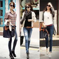 Phối quần jean dạo phố thu cuối tuần