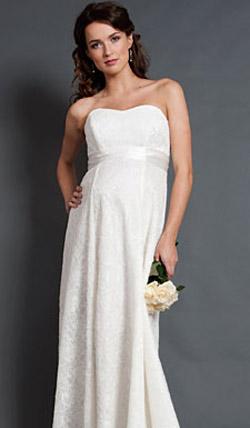 Váy cưới cho bà bầu đẹp 'ngả nghiêng' - 8