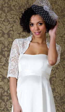 Váy cưới cho bà bầu đẹp 'ngả nghiêng' - 16