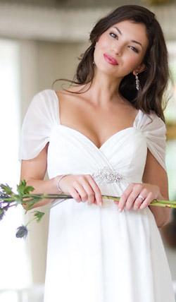 Váy cưới cho bà bầu đẹp 'ngả nghiêng' - 17