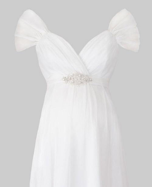 Váy cưới cho bà bầu đẹp 'ngả nghiêng' - 19