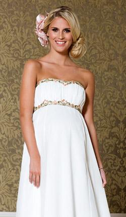 Váy cưới cho bà bầu đẹp 'ngả nghiêng' - 5