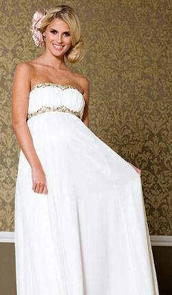 Váy cưới cho bà bầu đẹp 'ngả nghiêng' - 6