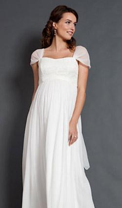 Váy cưới cho bà bầu đẹp 'ngả nghiêng' - 22