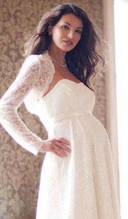 Váy cưới cho bà bầu đẹp 'ngả nghiêng' - 9