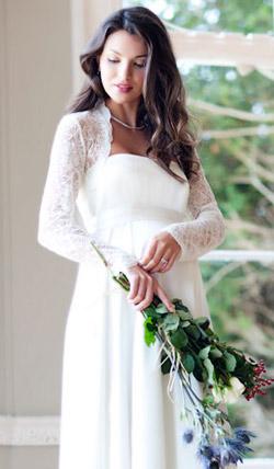 Váy cưới cho bà bầu đẹp 'ngả nghiêng' - 10