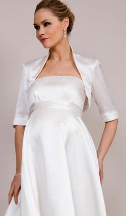 Váy cưới cho bà bầu đẹp 'ngả nghiêng' - 12