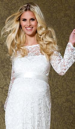Váy cưới cho bà bầu đẹp 'ngả nghiêng' - 3