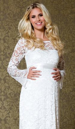 Váy cưới cho bà bầu đẹp 'ngả nghiêng' - 4