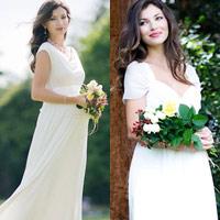 Váy cưới cho bà bầu đẹp 'ngả nghiêng'