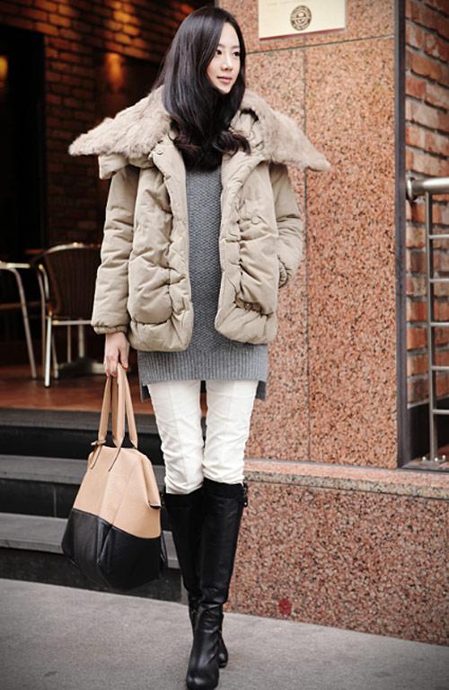 'Duyên ngầm' với áo phao mùa đông - 24