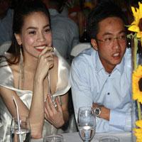 Vợ chồng Hà Hồ hạnh phúc bên nhau
