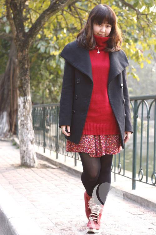 Dạo phố học cách mix váy mùa đông - 1