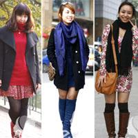 Dạo phố học cách mix váy mùa đông