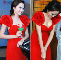 Hoa hậu Diễm Hương vô tình hớ hênh