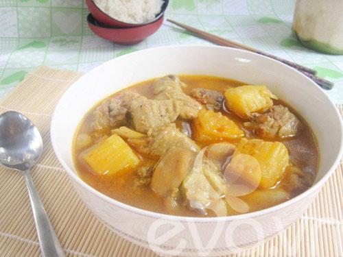 Gà nấu cà ri nóng hổi mùa thu - 9