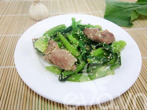 Ngon cơm thịt xào ngồng cải - 7