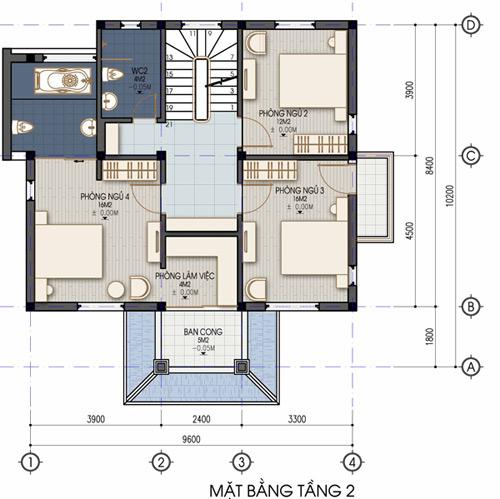 Xây nhà 2 tầng cho gia chủ đất rộng - 3