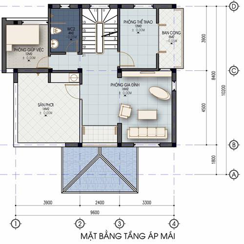 Xây nhà 2 tầng cho gia chủ đất rộng - 4