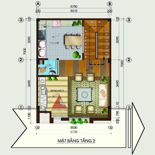 Tư vấn xây nhà 40m2 cao vút - 2